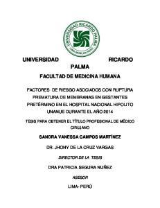 PALMA FACULTAD DE MEDICINA HUMANA