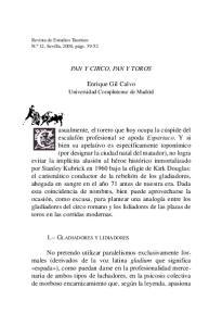 PAN Y CIRCO, PAN Y TOROS. Enrique Gil Calvo