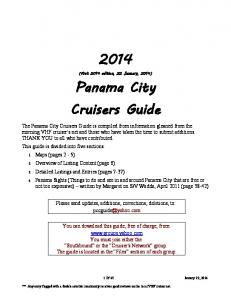 Panama City Cruisers Guide