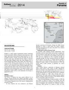 Panama. CultureGrams. Republic of BACKGROUND. World Edition