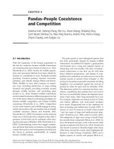 Pandas People Coexistence and Competition