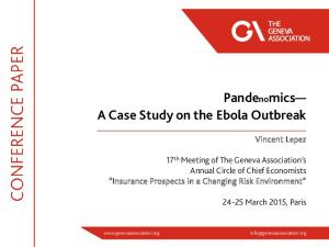 Pandenomics A Case Study on the Ebola Outbreak