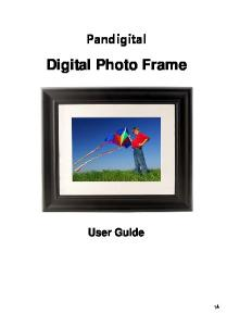Pandigital. Digital Photo Frame. User Guide