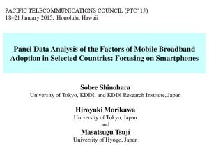 Panel Data Analysis of the Factors of Mobile Broadband Adoption in Selected Countries: Focusing on Smartphones