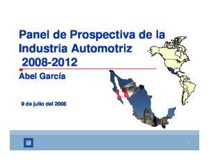Panel de Prospectiva de la Industria Automotriz