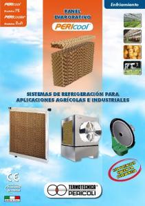PANEL EVAPORATIVO SISTEMAS DE REFRIGERACIÓN PARA APLICACIONES AGRÍCOLAS E INDUSTRIALES