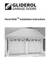 Panel Glide Installation Instructions