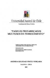 PANELES PREFABRICADOS MULTIUSOS DE FERROCEMENTO