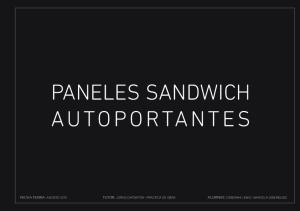 PANELES SANDWICH AUTOPORTANTES