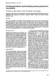 Panhypopituitarism and hereditary sensory autonomic neuropathy