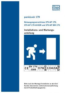paniclock 179 Installations- und Wartungsanleitung EN 179: B AB D