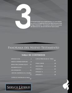 Panorama del Nuevo Testamento