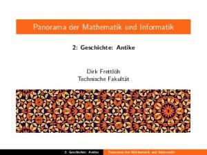 Panorama der Mathematik und Informatik