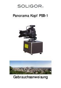 Panorama Kopf PSB-1. Gebrauchsanweisung