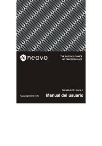 Pantalla LCD - Serie C. Manual del usuario