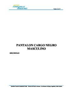 PANTALON CARGO NEGRO MASCULINO