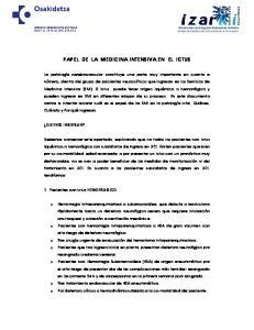 PAPEL DE LA MEDICINA INTENSIVA EN EL ICTUS