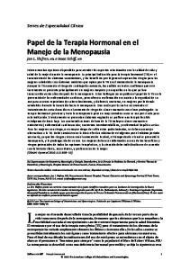 Papel de la Terapia Hormonal en el Manejo de la Menopausia