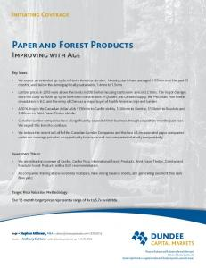 PAPER AND FOREST PRODUCTS