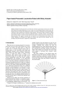 Paper-based Pneumatic Locomotive Robot with Sticky Actuator