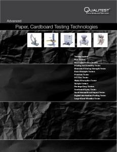 Paper, Cardboard Testing Technologies