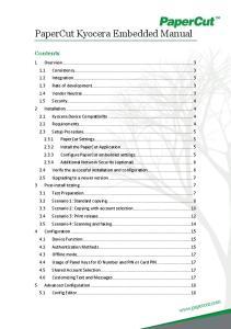 PaperCut Kyocera Embedded Manual