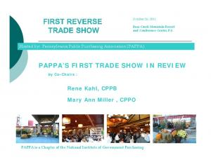 PAPPA S FIRST TRADE SHOW IN REVIEW