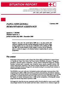 PAPUA NEW GUINEA: HUMANITARIAN ASSISTANCE