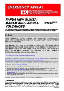 PAPUA NEW GUINEA: MANAM AND LANGILA VOLCANOES