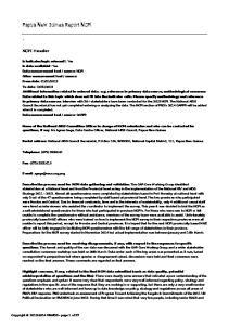 Papua New Guinea Report NCPI
