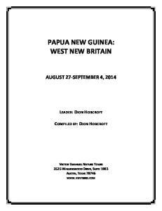 PAPUA NEW GUINEA: WEST NEW BRITAIN