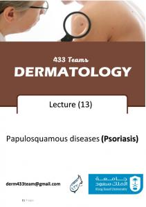 Papulosquamous diseases (Psoriasis)