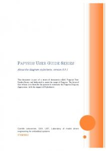 PAPYRUS USER GUIDE SERIES