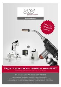 Paquete modular de soldadura micromig