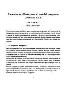 Paquetes auxiliares para el uso del programa Gromacs