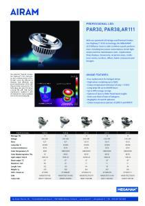 PAR30, PAR38,AR111 PROFESSIONAL LED: UNIQUE FEATURES: