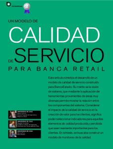 PARA BANCA RETAIL UN MODELO DE CALIDAD DE SERVICIO