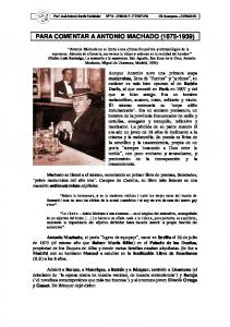 PARA COMENTAR A ANTONIO MACHADO ( )