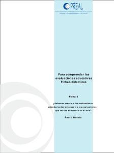 Para comprender las evaluaciones educativas Fichas didacticas