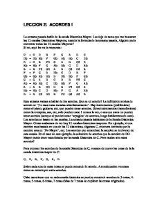 Para conocer los acordes de la escala Diatonica de C, veamos de nuevo las notas de la la escala diatonica mayor de C: