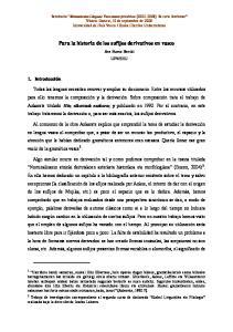 Para la historia de los sufijos derivativos en vasco