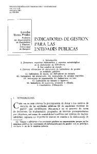 PARA LAS INDICADORES DE GESTION ENTIDADES PUBLICAS
