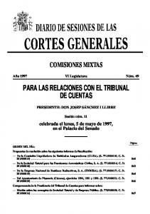 PARA LAS RELACIONES CON EL TRIBUNAL DE CUENTAS