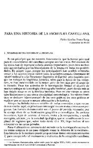 PARA UNA HISTORIA DE LA ESCRITURA CASTELLANA
