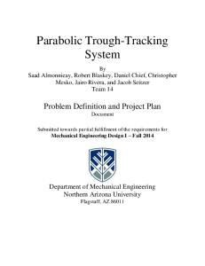 Parabolic Trough-Tracking System