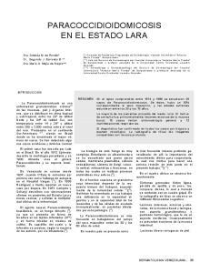 PARACOCCIDIOIDOMICOSIS EN EL ESTADO LARA