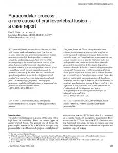 Paracondylar process: a rare cause of craniovertebral fusion a case report
