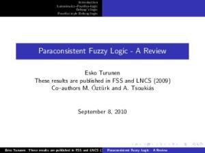 Paraconsistent Fuzzy Logic - A Review