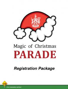 PARADE Registration Package
