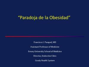 Paradoja de la Obesidad